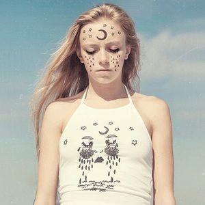 Brandy Melville crying moon sachi halter top